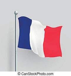 3d vector France flag
