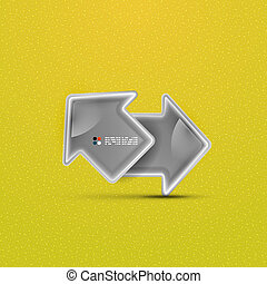 3d vector glossy arrow technology concept