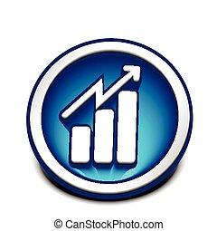 business graph web icon