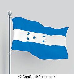 3d vector Honduras flag