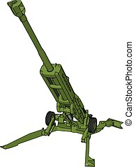 3D vector illustration of a military surface-to-air missile launcher