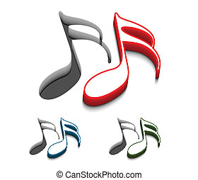 music web icons - 3d vector music web icons design element....