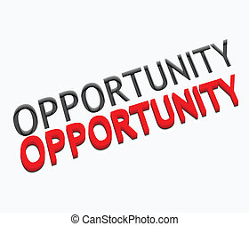 3d vector opportunity text design