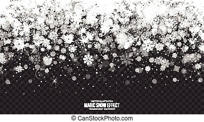 3D Vector Snow Border Illustration
