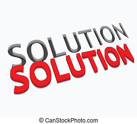 3d vector solution text design