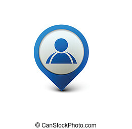 user web icon - 3d vector user web icon design element.
