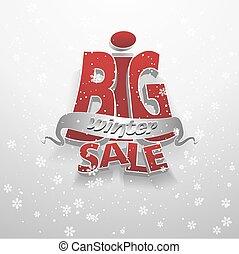 3d vector words big winter sale