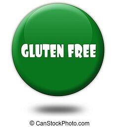 3d, vert, gluten, gratuite, button.