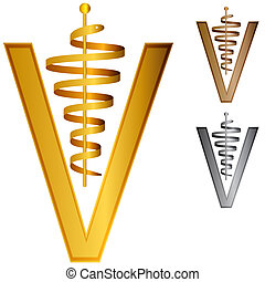 3d Veterinary Icon - An image of a 3d veterinary icon.