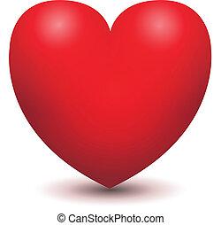 3d, vetorial, coração