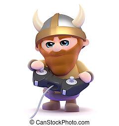 3d Viking gamer