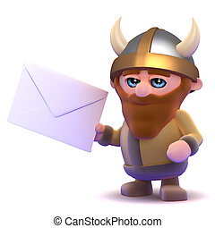 3d Viking gets mail