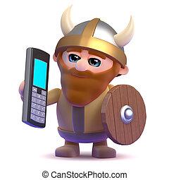 3d Viking mobile phone