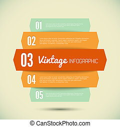 Vintage template for your infographic