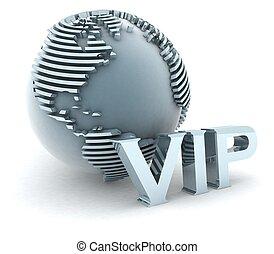 3d VIP globe