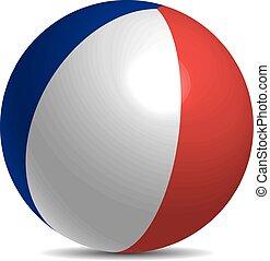 3d, vlag, bal, schaduw, frankrijk