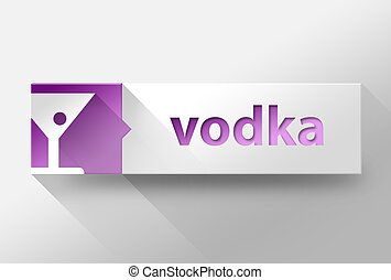 3d Vodka flat design, illustration