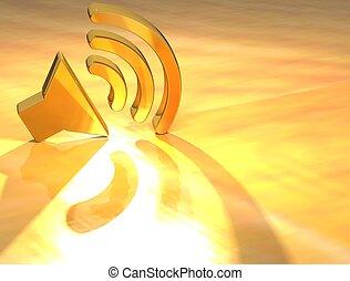 3D Voice Gold Text