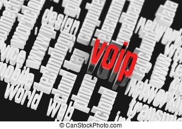 3d, voip, wordcloud, internet, concepto