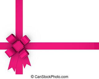 3d, volta, cor-de-rosa