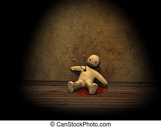 3d voodoo doll - Dark series - voodoo doll, pierced with ...