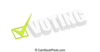 3d Voting Text