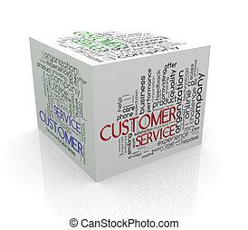 3d, würfel, wort, etikette, wordcloud, von, servicefachkraft