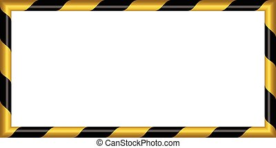 3d warning striped rectangular background, yellow and black stripes on the diagonal, warning to be careful potential danger vector template sign border yellow and black color Construction warning border
