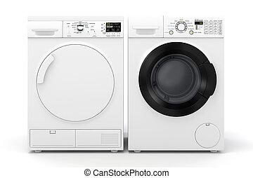 washing machine and dryer clipart. 3d washing machine and dryer on white background clipart 6