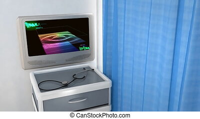 3D wave monitor in screen
