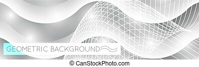 3D waves abstract geometric background.