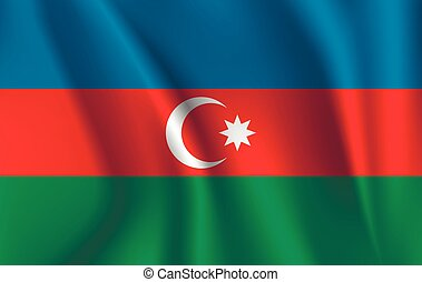 3D Waving Flag of Azerbaijan