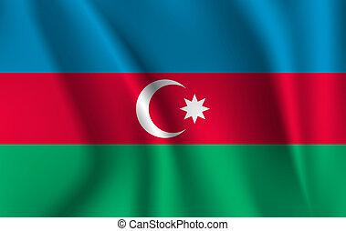 3D Waving Flag of Azerbaijan