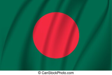3D Waving Flag of Bangladesh