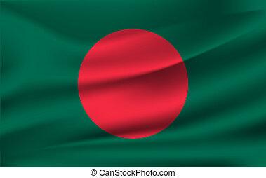 3D Waving Flag of Bangladesh