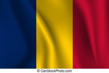 3D Waving Flag of Chad