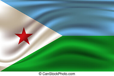 3D Waving Flag of Djibouti