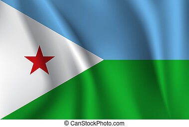 3D Waving Flag of Djibouti