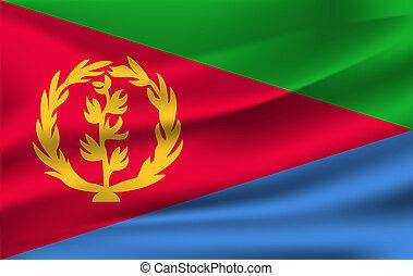 3D Waving Flag of Eritrea