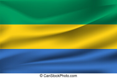 3D Waving Flag of Gabon