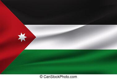 3D Waving Flag of Jordan