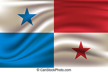 3D Waving Flag of Panama.
