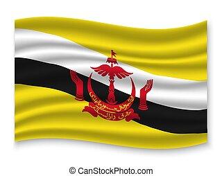 3D Waving Flag . Vector illustration