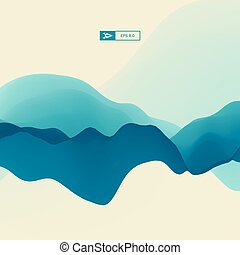 3D Wavy Background