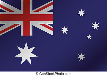 3D Wavy Flag Illustration of the country of  Australia