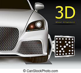 3D wheel alignment - Advertising image for 3d wheel...