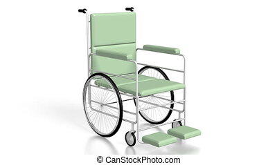 3D wheelchair on white background - great for topics like...