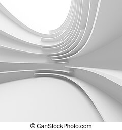 White Abstract Architecture Design