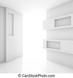 Abstract Interior - 3d White Abstract Interior Background