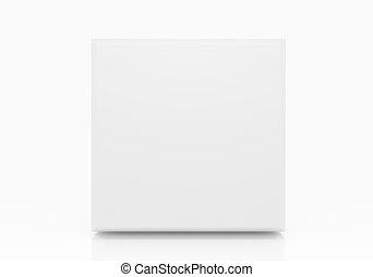 White Blank Square